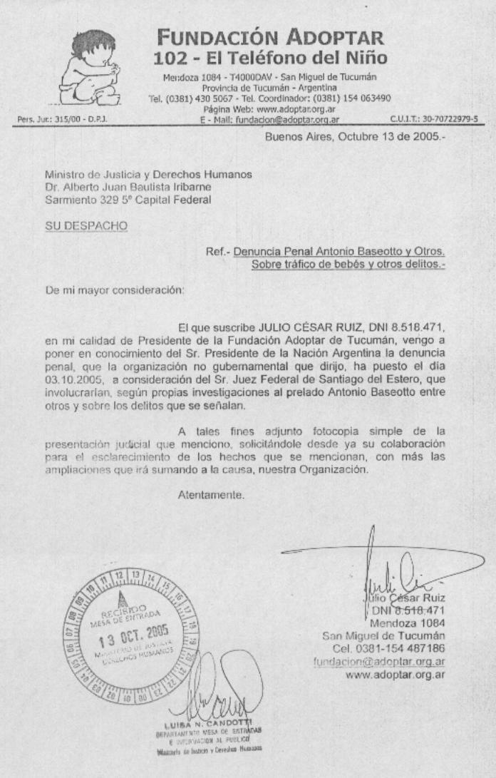 Ministro de Justicia y Derechos Humanos-Dr. Alberto Juan Bautista Iribame