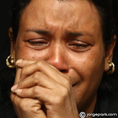 madre  llorando