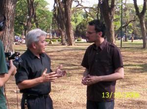 Daniel Malnatti y Julio Ruiz en la filmación