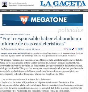 """El Poder Ejecutivo de Tucumán tilda de """"irresponsable"""" al informe judicial"""