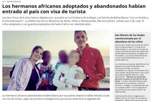 Argentina implicada en el robo de niños